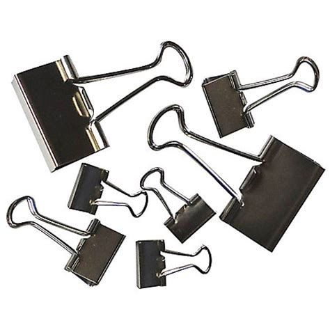 Binder Klips office depot brand binder assorted sizes silver pack