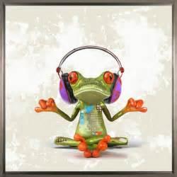 ashkan art zen frog hand embellished sh13