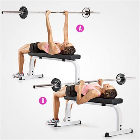 flat bench barbell press 6 trainers favorite exercises for stronger sculpted arms