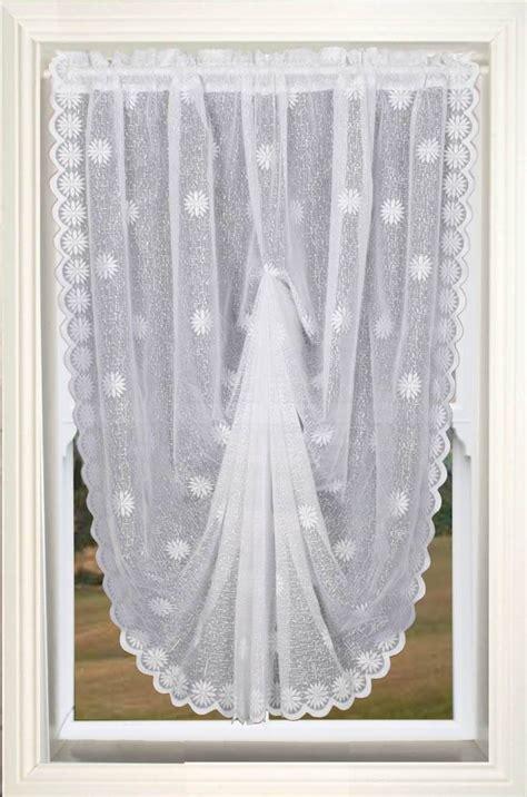 white swag curtains dallas bell swag white net curtain 2 curtains