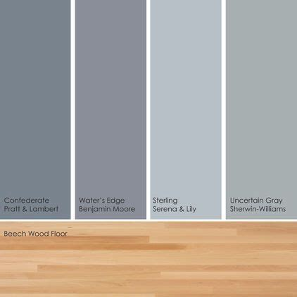 bluish green gray paint picks warm up these cool hues by pairing them with a light wood floor