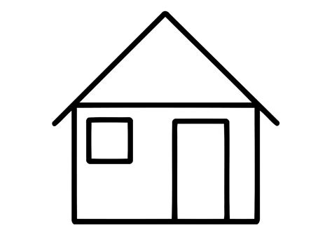 a coloring page of a house house coloring pages to download and print for free
