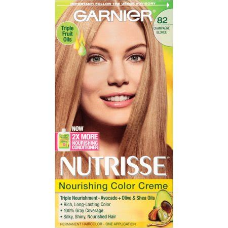 garnier nutrisse hair color reviews garnier nutrisse nourishing color creme 82 chagne