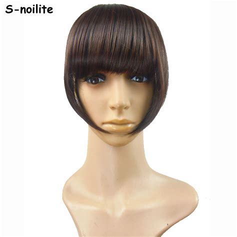 weave in hair by fringe s noilite short front neat bangs clip in bang fringe hair