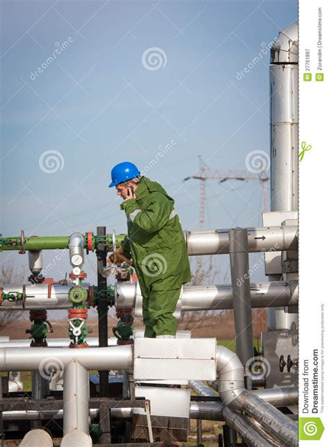Production Operator by Gas Production Operator Royalty Free Stock Photography Image 27761887