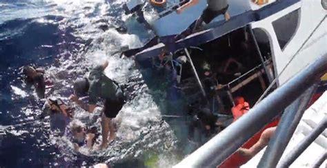 tourist boat sinks thailand panic as sinking thailand tourist boat sinks in a matter