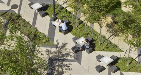 Planning To Plan Office Space by Levinson Plaza Mikyoung Kim Design Landscape