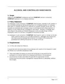 Company Policy Template Free by Company Policy And Controlled Substances Template