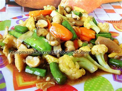 cara membuat capcay sayur goreng resep capcay goreng enak gurih saus tiram aneka resep