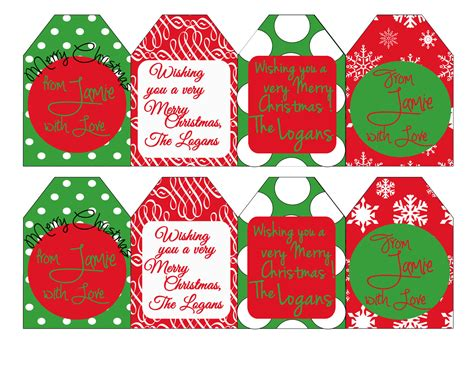 printable personalized christmas gift tags free 5 best images of oversized christmas tags printable free