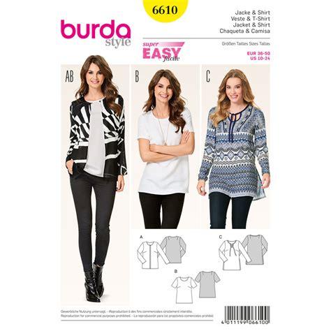 shirt pattern burda burda style pattern 6610 jacket and shirt
