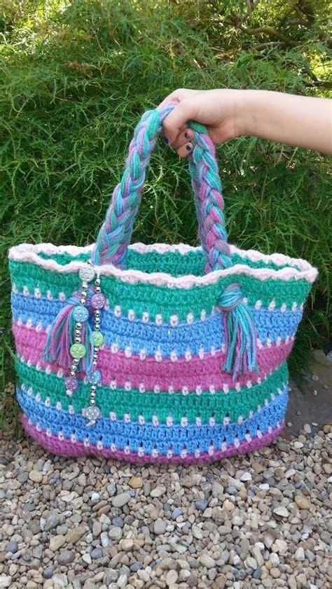 tutorial rajutan gratis 17 best images about borse crochet on pinterest