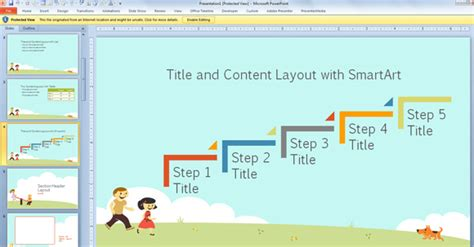 download layout ppt free children powerpoint template with cartoons for