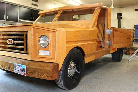 wooden truck custom built all wood ford pickup truck