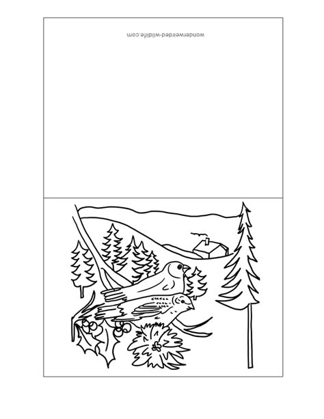 printable christmas cards in color christmas cards for kids to color coloring home