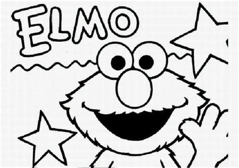elmo coloring pages kids world