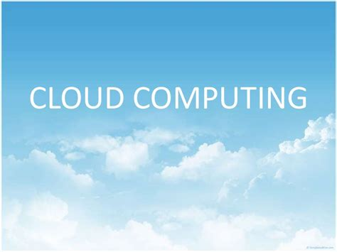 Agreement Of Services Template cloud computing