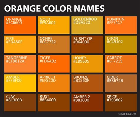 gold color names orange color names ngo interior in 2019 color names