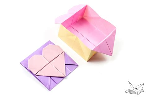 Origami For Box - origami opening box envelope tutorial paper kawaii