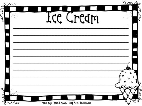 printable ice cream writing paper step into 2nd grade with mrs lemons january 2012