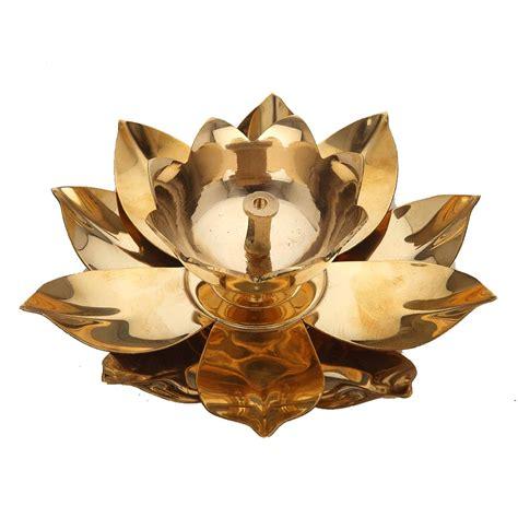 Home Decor Wholesale India lotus shaped brass diya the one shop