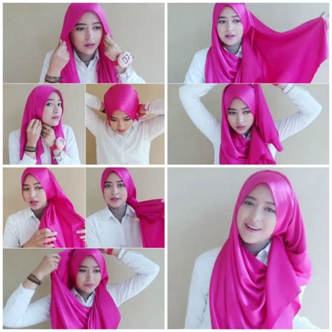 tutorial jilbab untuk acara wisuda tutorial hijab untuk wisuda yang cantik 7 gaya hijab