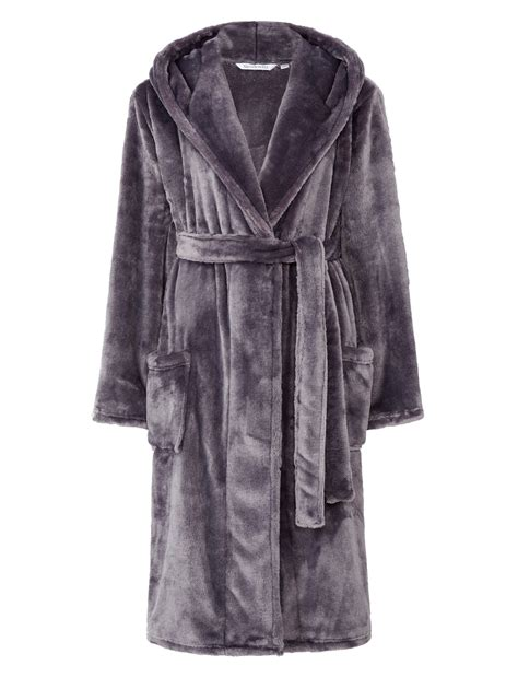 dressing gown dressing gown luxury soft thick fleece hooded