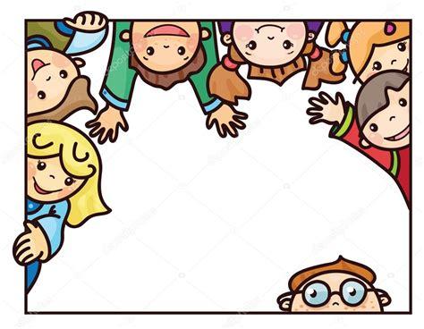 imagenes de niños felices animados marco de dibujos animados de ni 241 os felices archivo