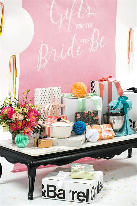 bridal shower table bridal shower gift table ideas crate and barrel blog
