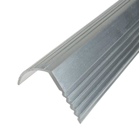 Metal Landscape Edging Home Depot Trafficmaster Silver 1 1 16 In X 144 In Stair Edging