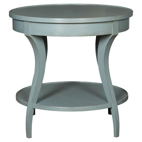 Teal End Table by Peribo Coastal Rustic Teal Blue Wood End Table