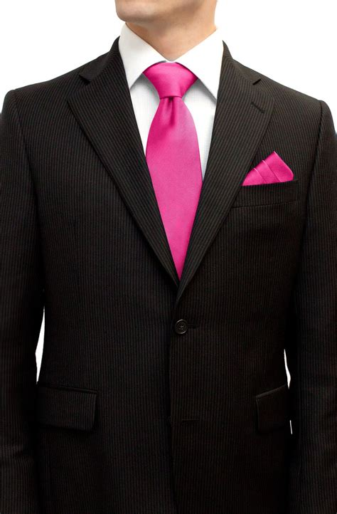 V7v Blouse Duo Ribbon Pink pink tie and pocket square set tie pocket square set accessories shop wedding