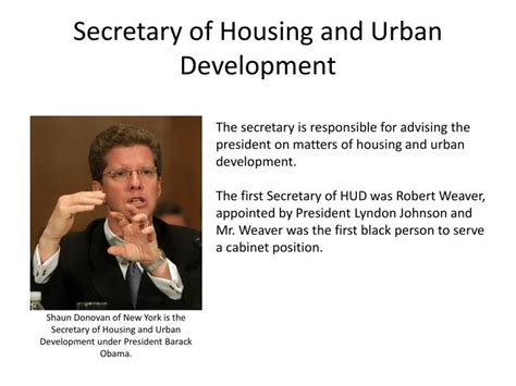 secretary of housing and urban development ppt government and politics ap review powerpoint presentation id 2156564