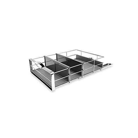 simplehuman 20 pull out cabinet organizer simplehuman 174 14 inch pull out cabinet organizer in grey
