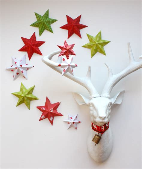 Folded Paper Decorations - remodelaholic 35 paper decorations to make