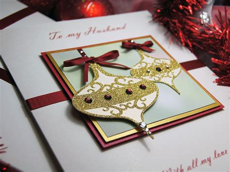 Handmade Luxury - baubles luxury handmade card