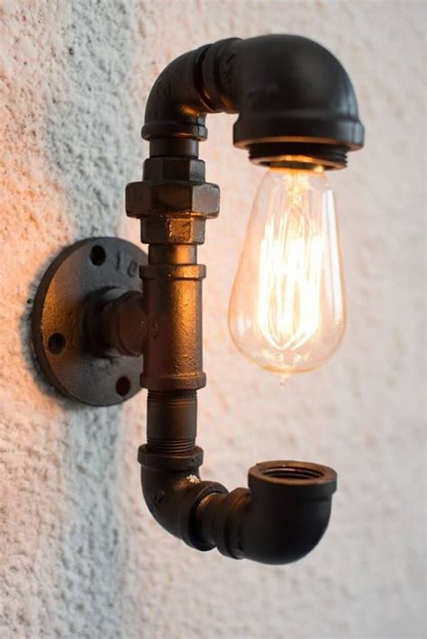 black pipe light fixture diy how to make pipe l id lights