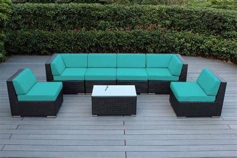 Unused 7 Pcs Teal Outdoor Furniture Set 7pcsfsteal Brand Teal Outdoor Furniture