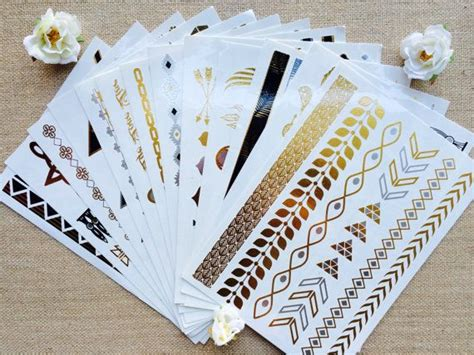 temporary metallic tattoos 1000 ideas about metallic temporary on