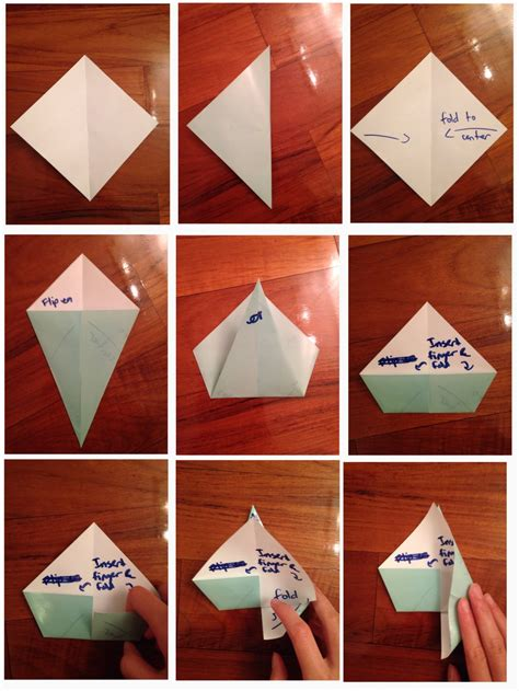 Folding Paper Hats - how to fold origami fox hat by beginneratart on deviantart