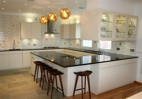 kitchen designs and ideas modern small u shaped kitchen ideas and lighting with