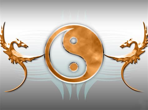 ying yang cartoon picture ying yang dragon wallpaper