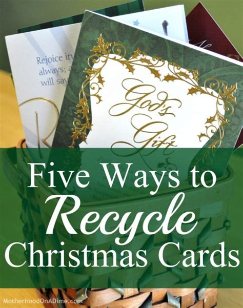 Gift Card Recycle - five ways to recycle christmas cards kids activities saving money home