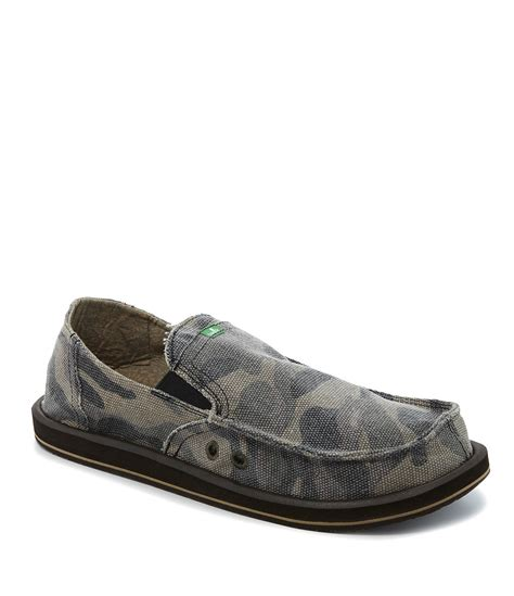 sanuk camo pocket slip on shoes dillards