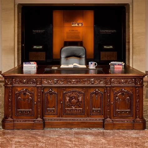 Oval Office Desk Replica by Custom Resolute Desk Replica National Archives Store