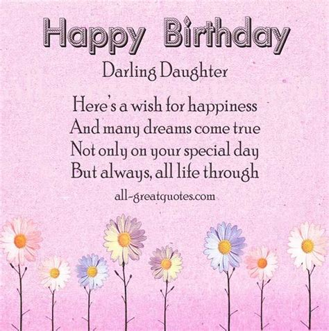 Beautiful Quotes For Daughters Birthday 25 Best Ideas About Birthday Wishes For Daughter On