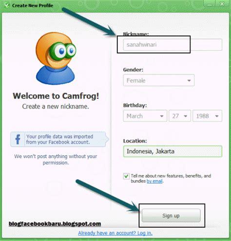 cara membuat akun unik terbaru di facebook 2015 saneva blog download dan cara daftar camfrog dengan akun facebook terbaru