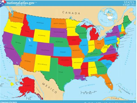 map of united states of america for show me the map of the united states of america