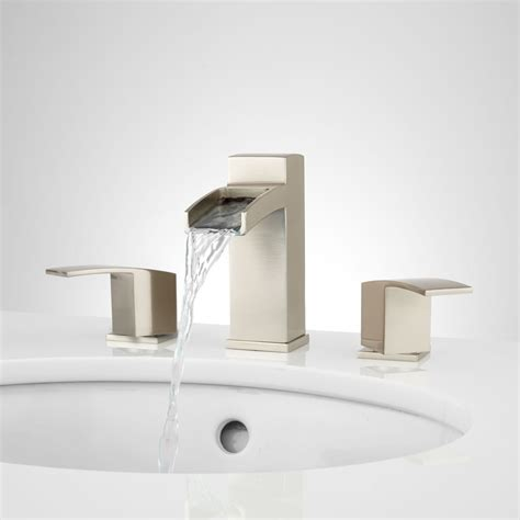 bathroom faucets waterfall morata widespread waterfall bathroom faucet bathroom