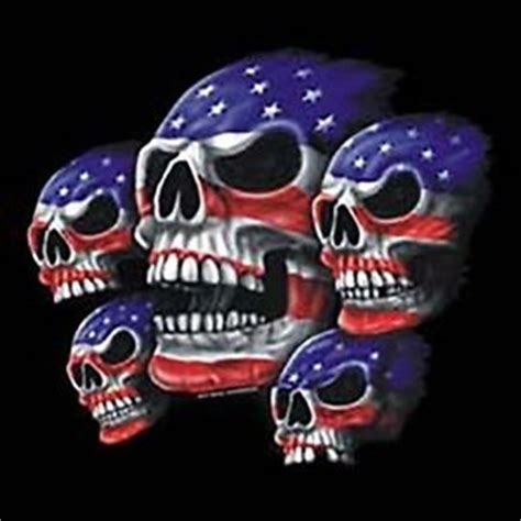 men s biker t shirt usa flag skulls patriotic s xl 2x 3x